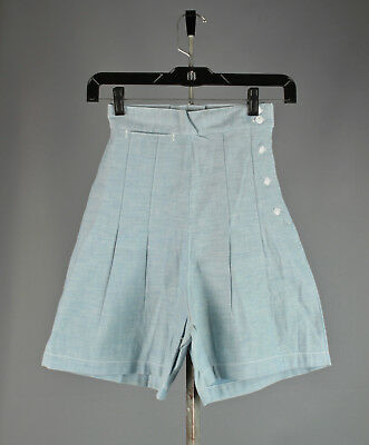 Vtg. 50s NOS Blue Chambray Women's US Air Force Shorts Size 8 #748 1950s USAF