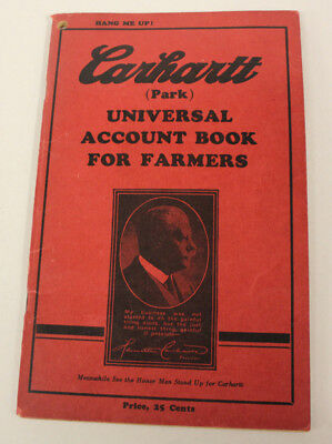Carhartt Ad Universal Account Book for Famers 1936