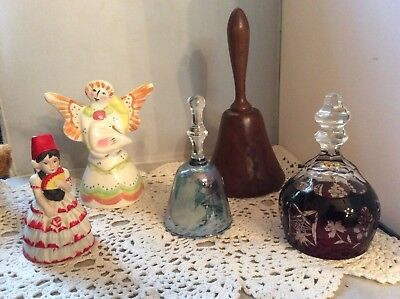 Collectible Decorative Bells - Mixed Lot Of 5