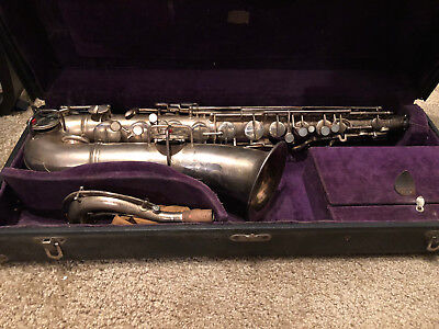 Antique 1919-1920 CG Conn C Melody Curved Neck Saxophone