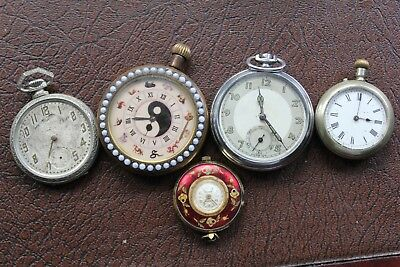Joblot of Antique and Vintage Pocket Watches - Not working.  Spares or Repair