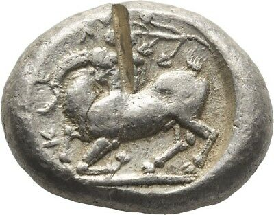 Lanz Greek Cilicia Kelenderis Goat Horse Youth Ethnic Ivy Stater Silver ±Tez2045