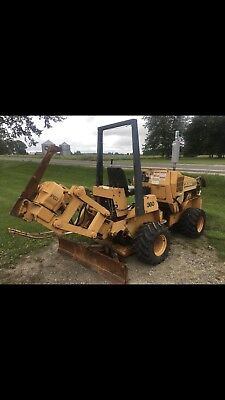 CASE 360 TRENCHER With Back Blade Vibratory Plow And Hydraborer Trencher  Case360