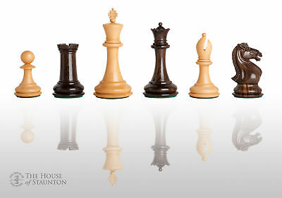 """The Hastings Luxury Chess Set - Pieces Only - 4.0"""" King - Tasmanian Blackwood"""