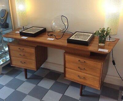 Mid century Alfred Cox for Heal's walnut dressing table, desk