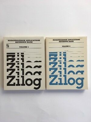 ZILOG Databook MICROPROCESSOR APPLICATIONS REFERENCE BOOK VOL 1 & 2 1981/1983