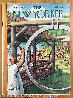 New Yorker Magazine 1953 Oct 24 Vintage Mid-Century Advertising Travel Airlines