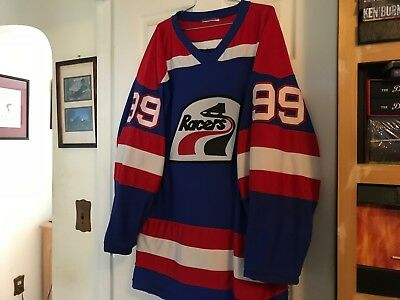 Vintage Wayne Gretzky Blue #99 Indianapolis Racers Practice Jersey! Incredible!