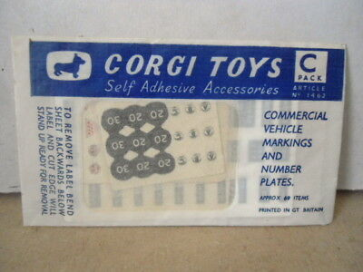 Corgi Toys Accessories Pack C - Commercial Vehicle Markings & Number Plates