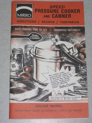 Vintage Mirro Speed Pressure Cooker and Canner Manual Cookbook Instruction