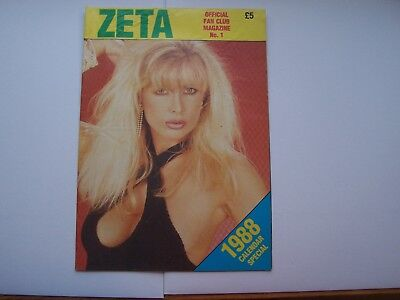 "vintage 1980s ""ZETA OFFICIAL FAN CLUB MAG no 1"" glamour poster magazine"