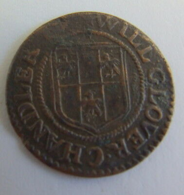 Very Nice 17th Century His Halfpenny Token 1664