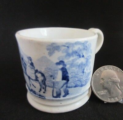 "antique,child's cup,MINIATURE ONLY 1 5/8"",transferware,blue & white,VERY NICE!"