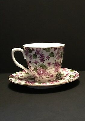 Grace's Teaware Pansy Tea Cup And Saucer