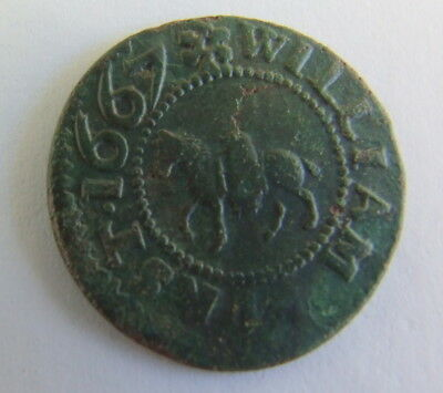 Very Collectable 17th Century His Halfpenny Traders Token 1667