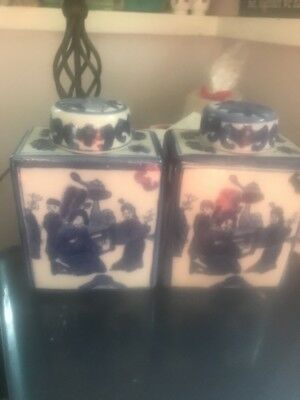 Vintage Japanese Ceramic Decanters