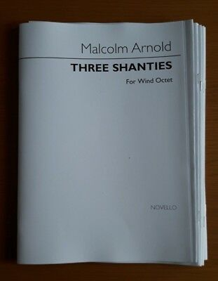 Malcolm Arnold - Three Shanties for Wind Octet (Score and Parts)