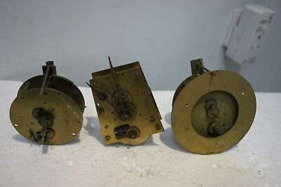 3. Timepeice clock movements for spares/repairs