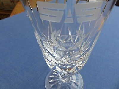 S A S royal brierley crystal cut glass commemorative 75th anniversary 1916/1991
