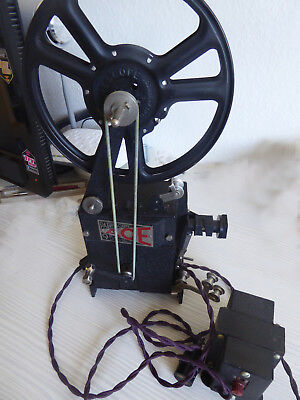 9.5mm Pathescope Ace Projector with Leaflets, 4 films & 2 Pathescope Monthlies