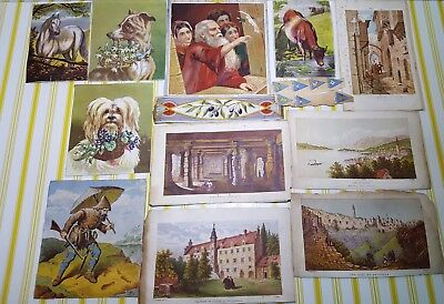 Victorian  & Scrap Cuttings Dogs & Other Animals Plus Others