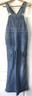 Old Navy Overalls Blue Jeans Denim Bootcut Leg Medium Wash Youth 14