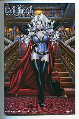 Lady Death Dragon Wars #1 Majestic Variant Cover by Richard Ortiz Signed Pulido