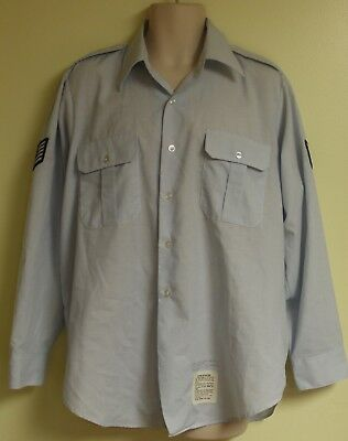 Mens Us Air Force Usaf Shirt Ss Size 16 W/chevrons Very Good Condition