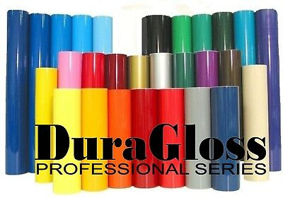 """12"""" X 5 FT - DuraGloss Pro Series - Adhesive Vinyl 4 Decals, Crafts, Signs"""