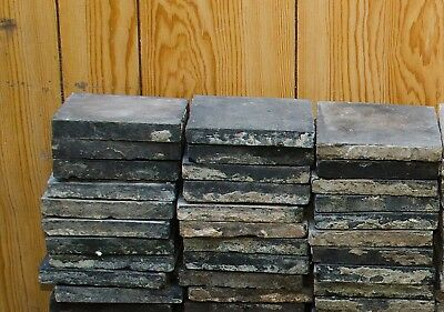30 black Victorian Quarry Tiles (approx. 6x6 inch) some need cleaning