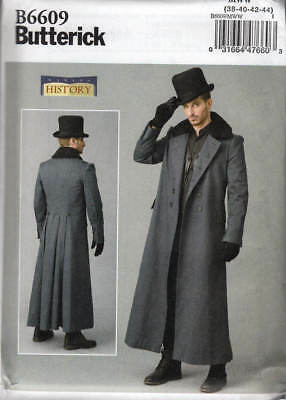 Costume Sewing Pattern Butterick 6609  Men's Steampunk Victorian Coat Historical
