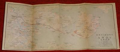 1915 IMPERIAL JAPANESE RAILWAY MAP of ENVIRONS of AMOY CHINA
