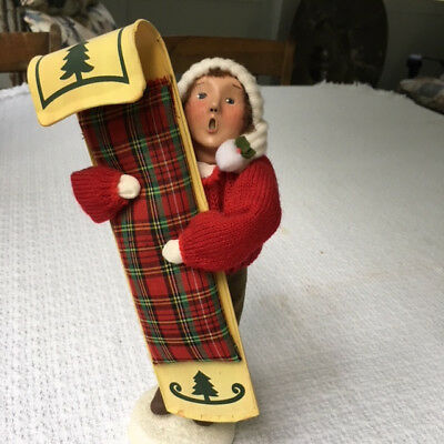 Byers' Choice Ltd. Child With Toboggan 2000 #45/100
