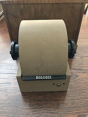 Vintage Rolodex Model 2254D Filing Metal Roll Top Rotary & blank cards