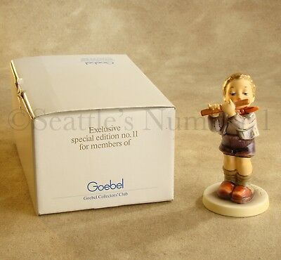 "MINT ""Morning Concert"" Goebel Hummel #447 TMK 6 Figurine 4.875"" Special Edition"