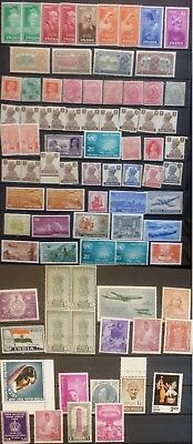 India MNH Stamps Selection 1900 's - 1960 's Indian Stamps