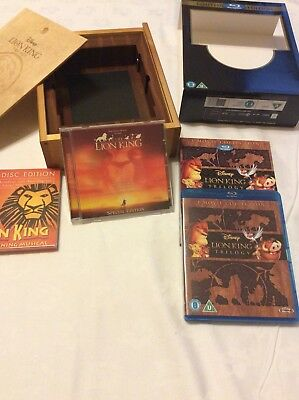 Disneys The Lion King Trilogy Limited Edition Blu Ray Set In Wooden Box