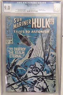Tales to Astonish #98 CGC 9.0 (1967) Sub-Mariner & Hulk