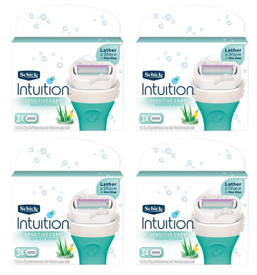 Schick Intuition Sensitive Care With Aloe & Vitamin E, 12 Cartridges