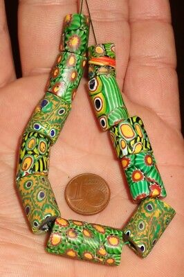 Beads Millefiori Antique Troc Africa Antique African Venetian Glass Trade Beads