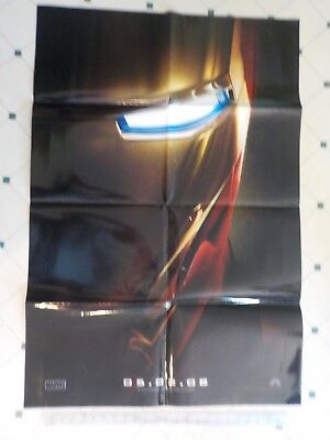 "IRON MAN theatrical poster - 27""x40"""