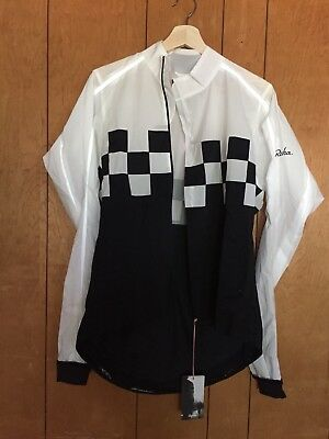 Men'S Rapha Classic Wind Check Jacket, Nwt, Color Black/white, Size Lrg
