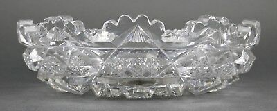 Fine Antique AMERICAN BRILLIANT Cut Crystal ABP Open Flat Round Bowl 19th 4