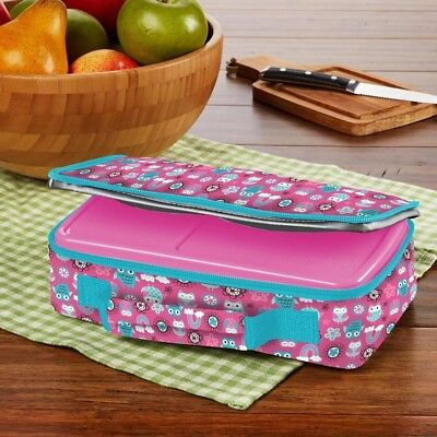 Fit /& Fresh Kids Bento Box Lunch Kit, Pink Fit and Fresh 841JL405