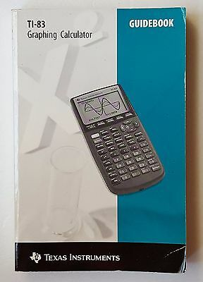 1996 Paperback Book  TI-83 Texas Instruments Graphing Calculator Guidebook