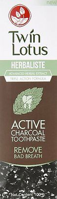 Twin Lotus Herbaliste Active Charcoal Toothpaste 100g