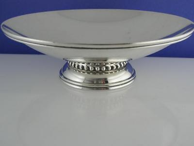 "Sterling QUAKER SILVER CO 6"" footed Dish / Bowl MODERNIST design"