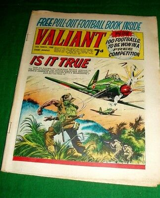 Valiant Comic 1968 With Free Pull Out Football Book Still Inside Celtic Feature