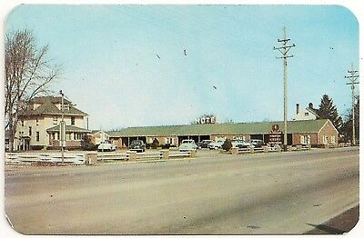 A. Lincoln Motel on Route 66 in Springfield IL Advertising Business Card