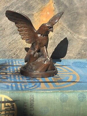 Vintage Eagle- Black Forest Style- Handcarved Wood Desk Top/mantelpiece Ornament